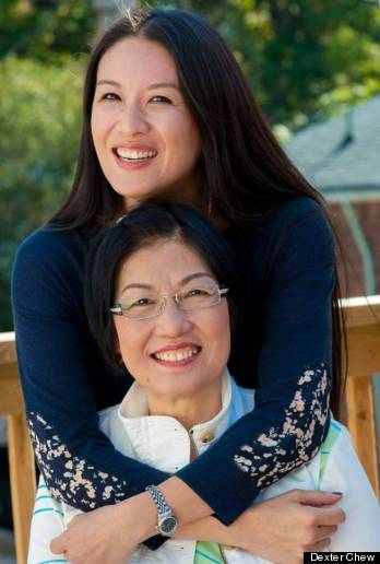 elaine lui with mom