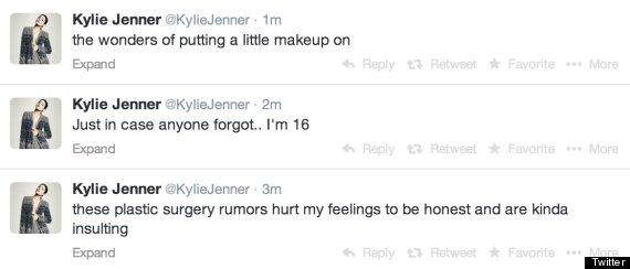 kylie jenner plastic surgery rumors