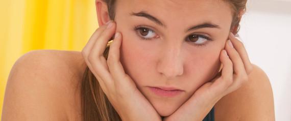 SULKING TEENAGER