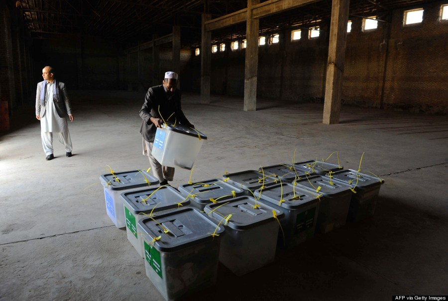 afghanistan ballot boxes