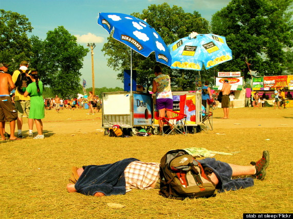 passed out bonnaroo