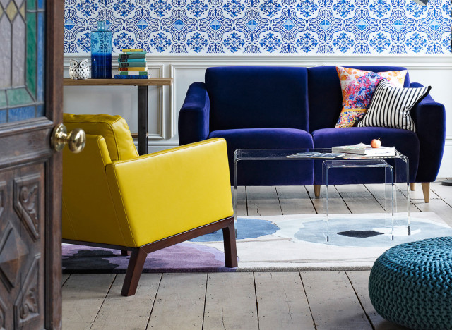 bold colour in the home