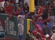 Angels Fan Learns Very Quickly That Players Aren't Supposed To Be Touched