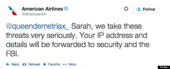 american airlines tweet