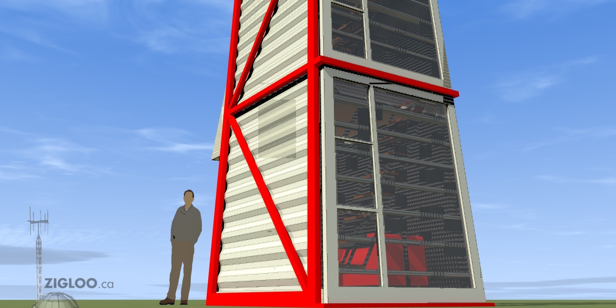 Shipping container home stands up for maximum awesomeness - Shipping container end welding ...