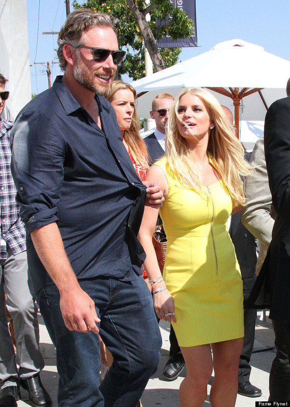 Jessica Simpson Wears Little Yellow Dress To John Varvatos