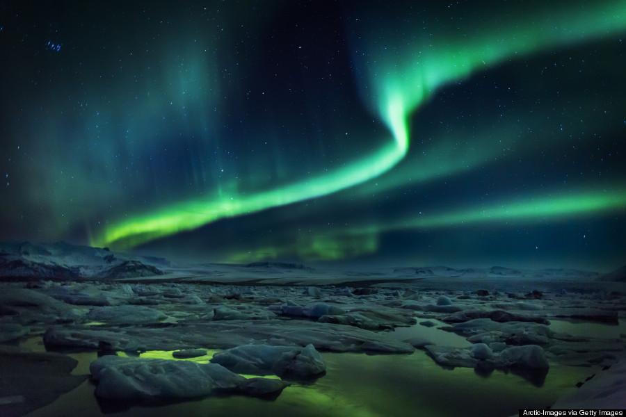 aurora borealis iceland  Iceland