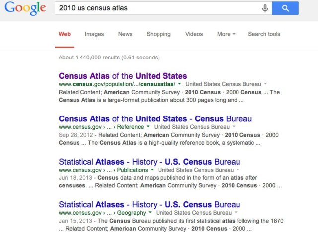 2010 census google