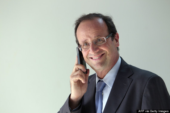 francois hollande cell phone