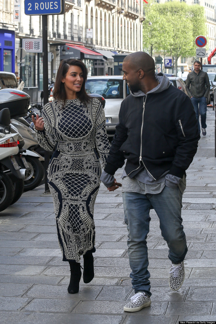 kim kardashian wears pearlencrusted dress in paris as you do
