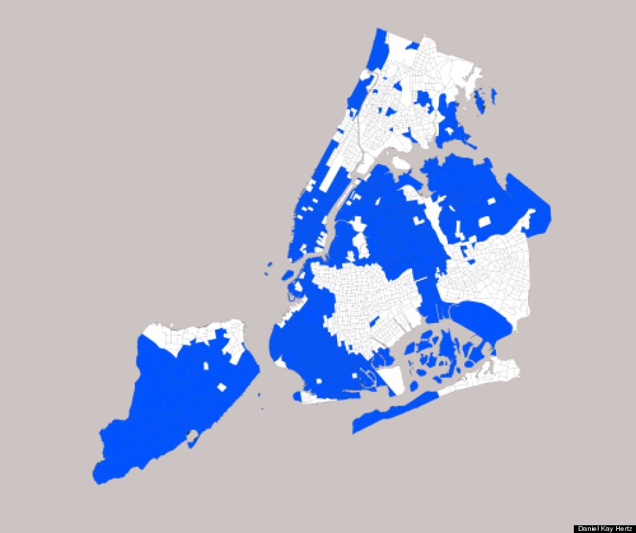 These Maps Show Just How Segregated New York City Really Is HuffPost - Segregated us map