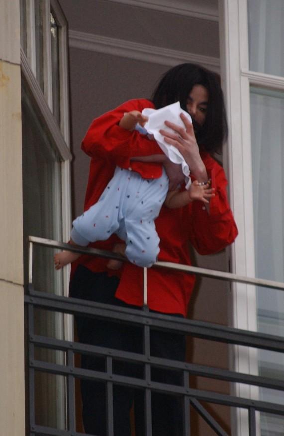 michael jackson baby window