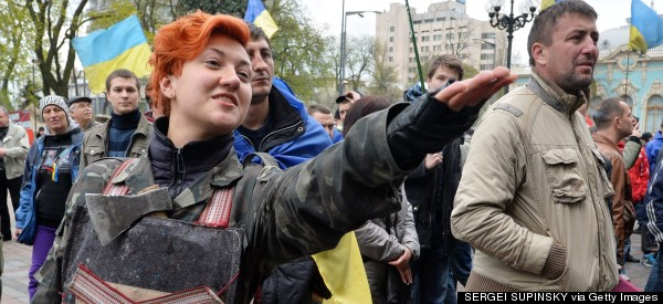LOOK: Powerful Images Of Ukrainians taking To The Streets