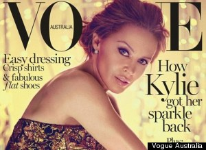 Kylie Minogue, 45, Flaunts Legs On Vogue Australia Cover