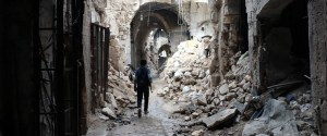 Syria Destruction Aleppo Old City