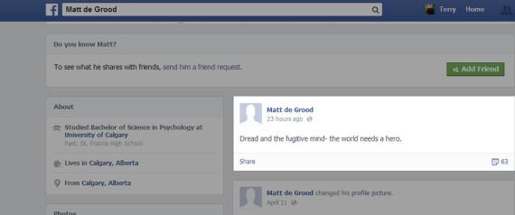 MATT DE GROOD FACEBOOK