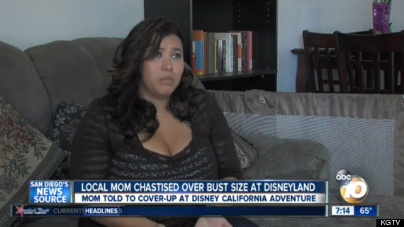 disney cleavage complaint