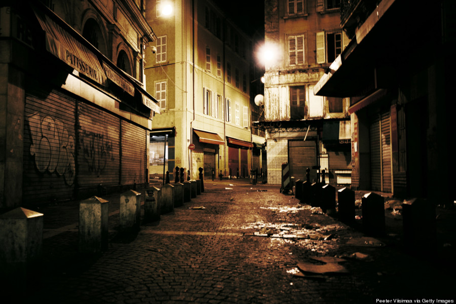 marseille streets night