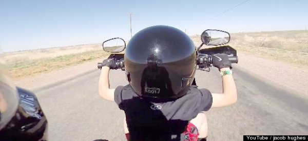 See What It's Like To Be Six Years Old And Steering A Harley Davidson