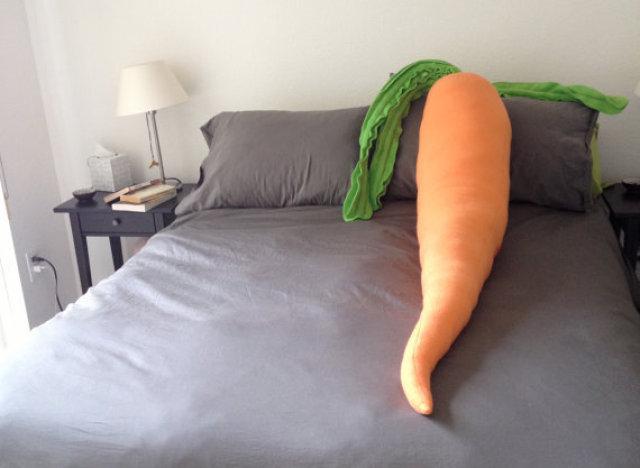 carrot body pillow