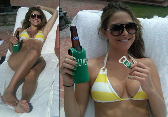 Maria Menounos's Bikini Tweet: Actress-Host Shows Off Celtics Love In