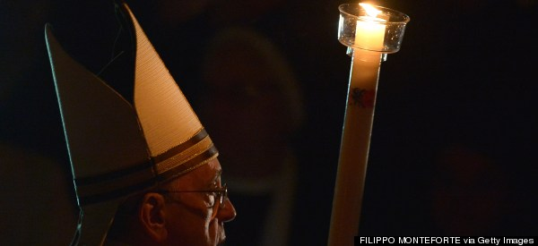 Pope Francis Baptizes 10 At Easter Vigil At Vatican