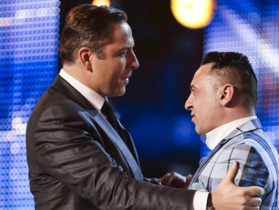 David Walliams and BGT act Christian Spridon