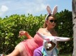 Here Is A Photo Of Mariah Carey Dressed As A Bunny And Using Nick Cannon As Furniture