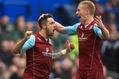 Burnley's Danny Ings celebrates scoring | Pic: PA
