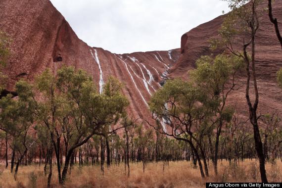 waterfall uluru