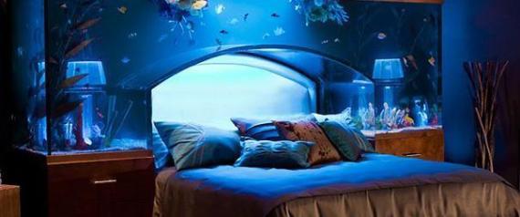 20 idee pazze per arredare la propria casa dal letto for Acquario in casa