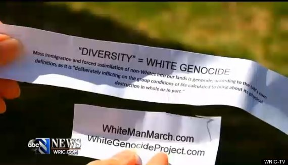 racist notes in easter eggs