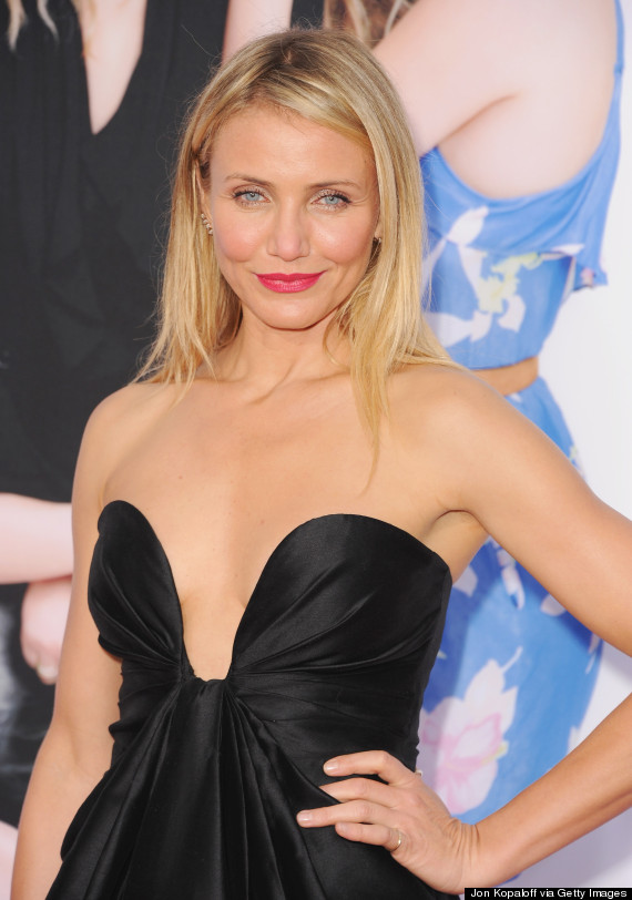 cameron diaz plunging dress