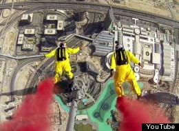 Watch This Terrifying BASE Jump From World's Tallest Building