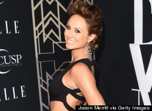 Pregnant Stacy Keibler Rocks A Cut-Out Dress