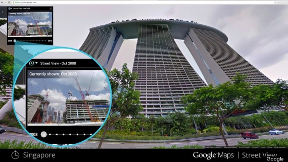 google street view back in time