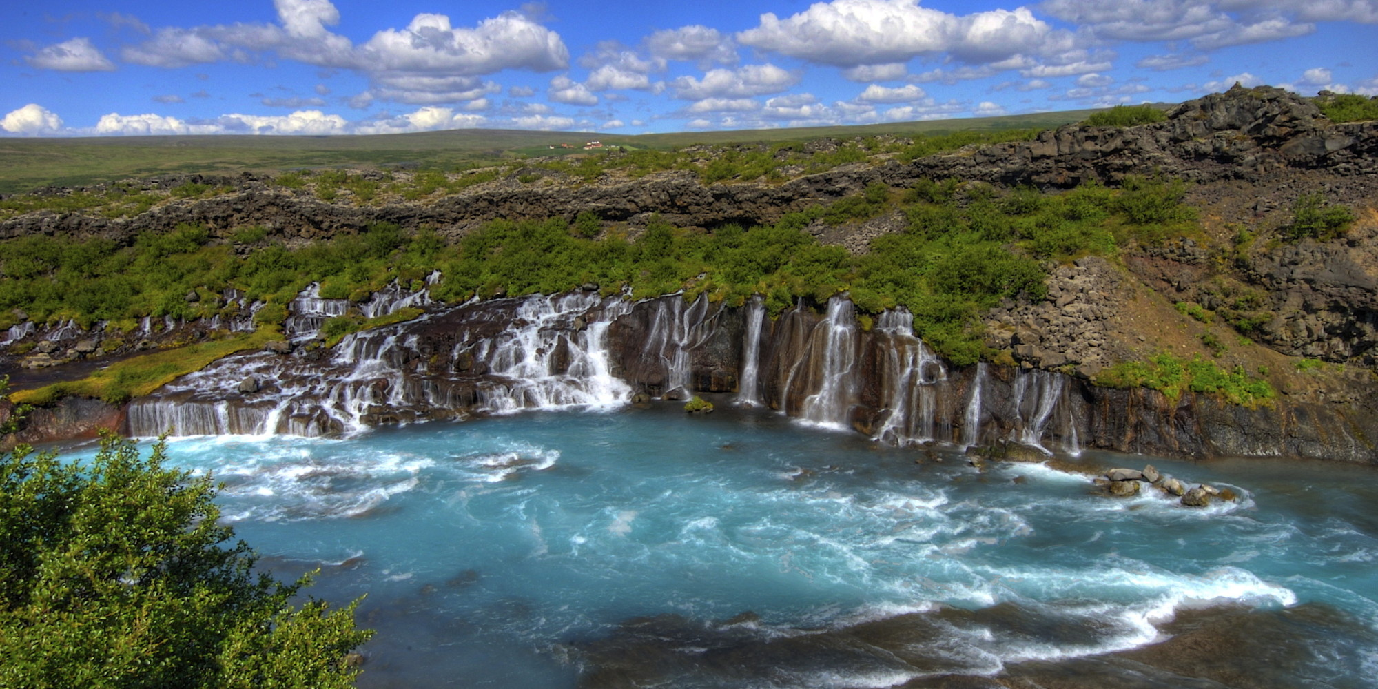 Hraunfossar, The Lava Field Waterfall You Didn't Know Was On Your Bucket List | HuffPost