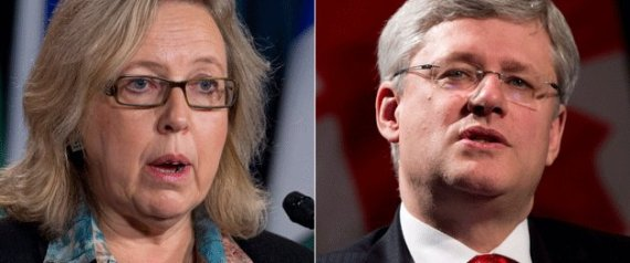 ELIZABETH MAY STEPHEN HARPER