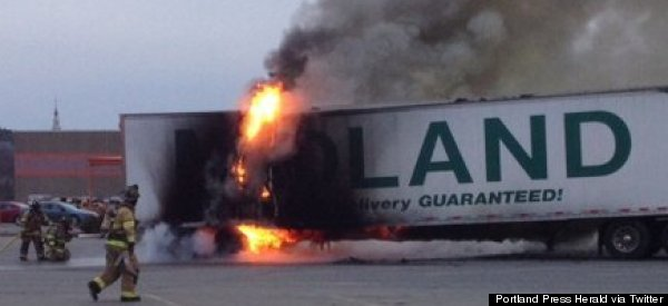 French Fry Truck Goes Up In Flames