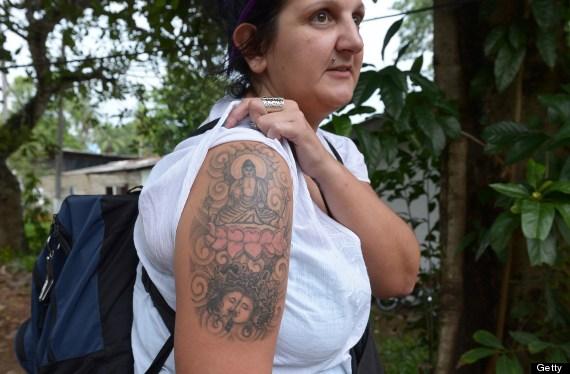 naomi coleman buddha tattoo sri lanka deported
