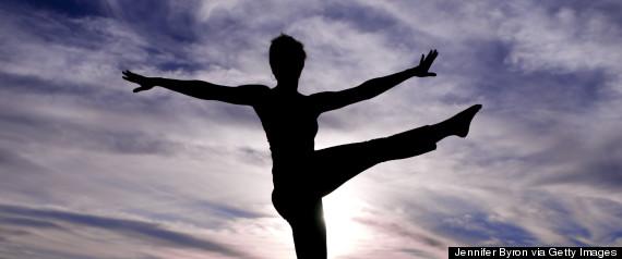 woman yoga dancing