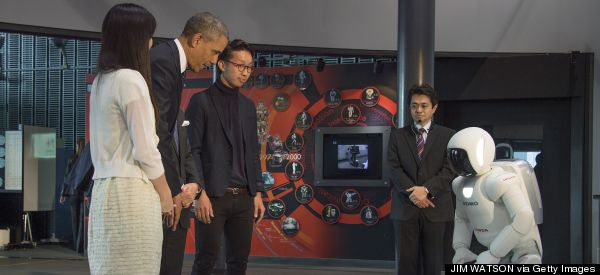 OBAMA VS. UN ROBOT (VIDEO)