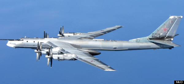 MoD Released Stunning Images Of Russian TU-95 Bear Aircraft That Approached Coast Of Scotland