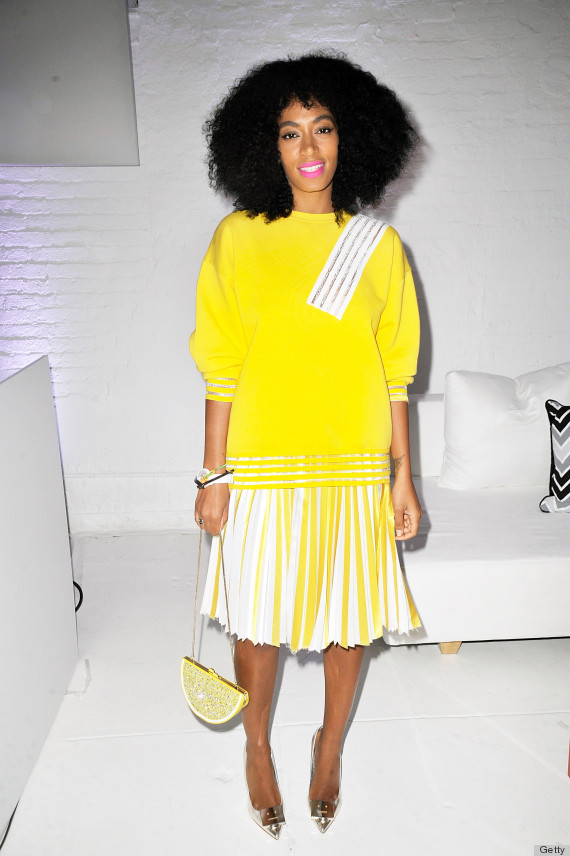 Solange Knowles Is Our Main Squeeze In Lemon Yellow Outfit | HuffPost