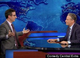 WATCH: John Oliver Returns To The Daily Show (Briefly)