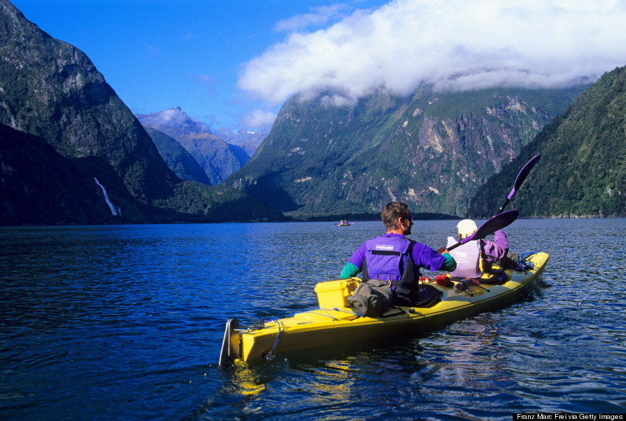 milford sound new zealand kayak