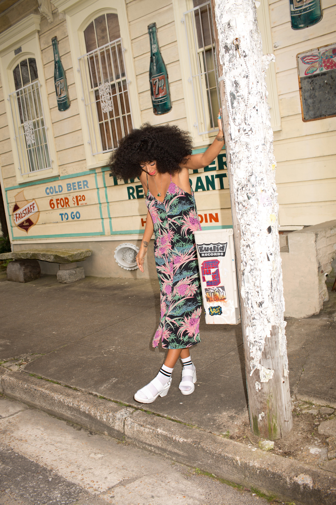 solange embodies all that is spring and summer on asos