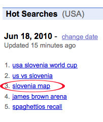 Slovenia Map' Tops Google With Confused Searches For 'Where