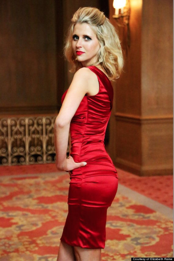 elizabeth raine red dress