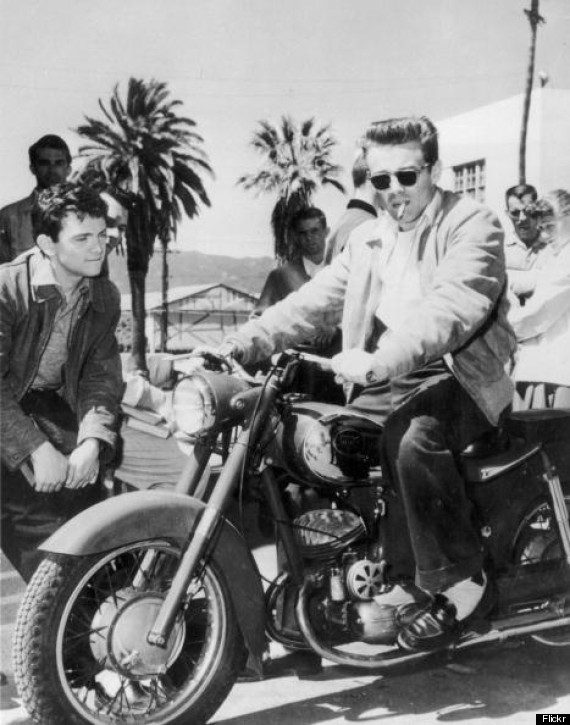 james dean on motorcycle